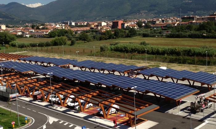 Pensiline Fotovoltaiche ospedale prato